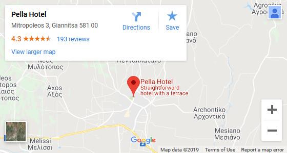 Pella Hotel Map Image